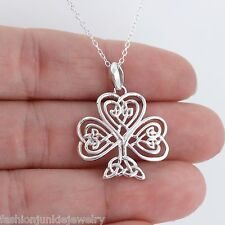 Trinity Celtic Tree of Life Necklace - 925 Sterling Silver - Celtic Irish Root