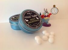 "One Tin of White Rabbit ""MINT DROPPINGS"" Alice In Wonderland - Gift - Tea Party"