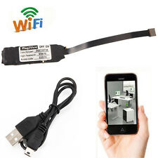 Wireless Wifi Spy Hidden IP Camera P2P Mini Pinhole DIY Module Digital Video DVR