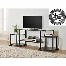 TV Stand Entertainment Center Media Black Console Storage Cabinet Furniture Wood