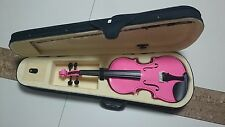 Student Acoustic Violin Size 1/2 Maple Spruce with Case Bow Rosin Pink Color