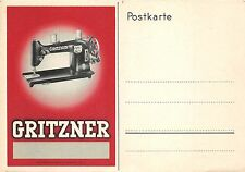 BG32569 gritzner sewing machine advertising germany