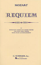 Mozart Requiem Vocal Score Learn to Sing Vocal Choral Voice Music Book