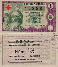 Año 1958. 100 Pts. Décima parte del billete. 4 de Octubre. Cruz Roja.