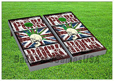 VINYL WRAPS Cornhole Boards DECALS English Punk Rock BagToss Game Stickers 851