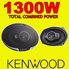 "KENWOOD 6""x9"" 6x9 1300W 5-way car rear deck oval shelf speakers, brand new pair"