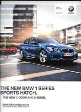 BMW 1 SPORTS HATCH PETROL AND DIESEL MODELS CAR SALE BROCHURE NOV. 2012 FOR 2013