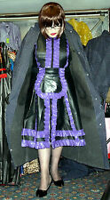Polka Dot rubber lined mackintosh raincoat hamilton & hood & belt 50 chest TV