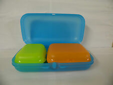 Tupperware   Maxi TwinSet 3 Teile  blau/orange/gelblimette