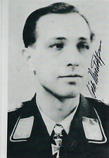 Luftwaffe Erich Rudorffer ACE 222 Vic ranks 7th All-Time in kills WWII SIGNED