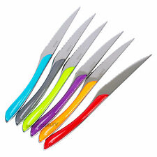 Set of 12 Amefa Eclat Kaleidoscope Steak Pizza Knives Stainless Steel Cutlery