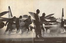 1961 print photo, Carrier Independence Flight Deck Douglas A3 Skywarrior  091914