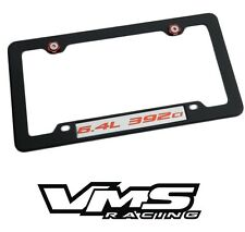VMS 1 BLACK LICENSE PLATE FRAME FOR CHRYSLER DODGE 6.4L 392CI RDSL