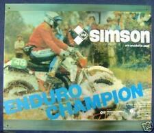 Älteres Blechschild IFA Simson Enduro DDR Reklame Werbung gebraucht used