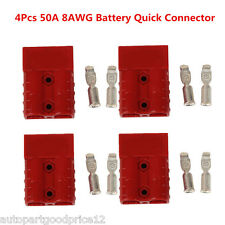 4pc Battery Quick Connector 50A 8AWG Plug Connect Disconnect Winch Trailer Truck