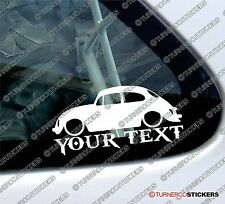 Custom YOUR TEXT ,Lowered VW Classic Beetle Type-1 Sticker / Volkswagen Decal