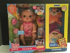 New Baby Alive Interactive Baby Go Bye Bye Bonus Blonde English Spanish