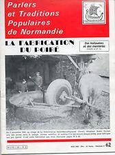 revue Parlers et Traditions populaires de Normandie,n°62 fabrication du poiré