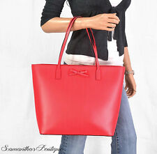 NWT KATE SPADE RED LEATHER TOTE SHOULDER BAG PURSE HANDBAG SATCHEL HOBO