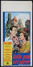 LOCANDINA, TUTTO PUO' ACCADERE Anything Can Happen JOSE' FERRER, POSTER AFFICHE