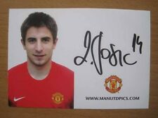 2007-08 Zoran Tosic Signed Man Utd Club Card (3211)