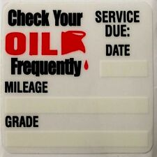 200 - Oil Change Reminder Sticker Decals 2x2 Static Cling