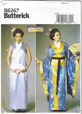 Geisha Girl Japanese Kimono Dress Obi Belt Costume Sewing Pattern 14 16 18 20 22