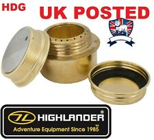 HIGHLANDER BRASS CAMPING STOVE BURNER =BUSHCRAFT SURVIVAL TRANGIA STYLE SURVIVAL
