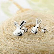 ORECCHINI ARGENTATI CONIGLIETTO - Cute Little Bunny Hypoallergenic Earrings