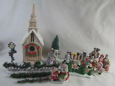 Christmas Miniature People & Decor 1990's Towns Children,Carolers,Golfer,Fence