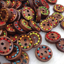20 pcs 15mm Wood Buttons Doll Sewing Craft Appliques WB250