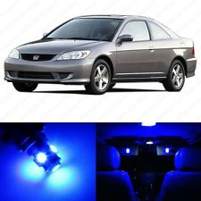6 x Blue LED Lights Interior Package Deal Honda CIVIC Coupe & Sedan 2001-2005