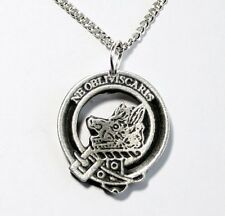 Scottish Clan Campbell Motto Necklace in English Pewter, Handmade, Gift Boxed