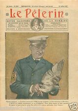 Homing Pigeon Voyageur Marine USA Marennes Colombophilie 1927  ILLUSTRATION