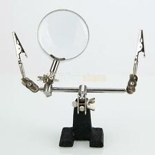 New Soldering Iron Stand Holder with 2X Magnifier Adjustable Alligator Clip Tool