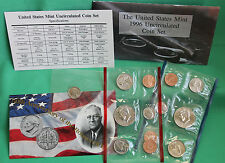 1996 Annual United States Mint Uncirculated Set W Dime 11 Coins P & D BU