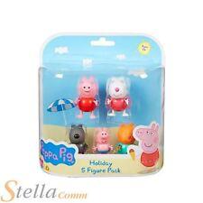 Peppa Pig Vacances Pack De 5 Figurines Articulé Figurine D'action Jouets