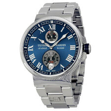 Ulysse Nardin Marine Chronometer Blue Dial Stainless Steel Mens Watch