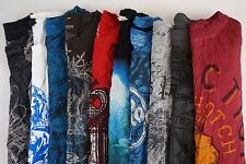 Affliction Lot of 10 Men's Short Slv Cotton Graphic Tee Shirts Small S [BE8104]