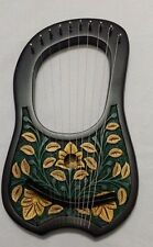 BRAND NEW LYRA HARP10 METAL STRINGS ROSEWOOD HAND ENGRAVED BLACK COLOR/LYRE HARP