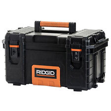 RIDGID 22'' Pro Tool Box Portable Storage Sturdy Heavy Duty Metal Locking System