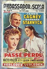 Affiche THESE WILDER YEARS Barbara Stanwyck JAMES CAGNEY Pidgeon Aff. Belge