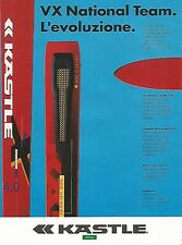 X1875 VX National Team - KASTLE - Pubblicità del 1994 - Vintage advertising