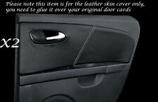 WHITE STITCH 2X REAR DOOR CARDS LEATHER COVERS FITS SEAT LEON TOLEDO 06-12