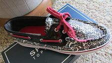 NEW SPERRY TOP-SIDER BISCAYNE BLACK SEQUIN BOAT SHOES WOMENS 6.5