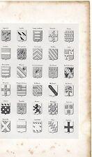 9/ ARMORIAL DE PICARDIE, D'ARTOIS ET DE FLANDRE planche 30 Blasons 1843