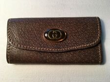 VINTAGE GUCCI LUXURY COLLECTION KEYCHAIN BROWN MADE IN ITALY