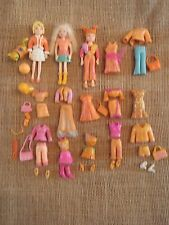"Polly Pocket Dolls Lot ""Colors of the Rainbow"" Orange Clothes Outfits Pet F61"