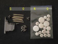 Clarinet repair parts screws+ Clarinet Leather pads Complete Set of 17 pads
