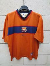 VINTAGE Maillot FC BARCELONE BARCELONA camiseta NIKE shirt away orange ancien M